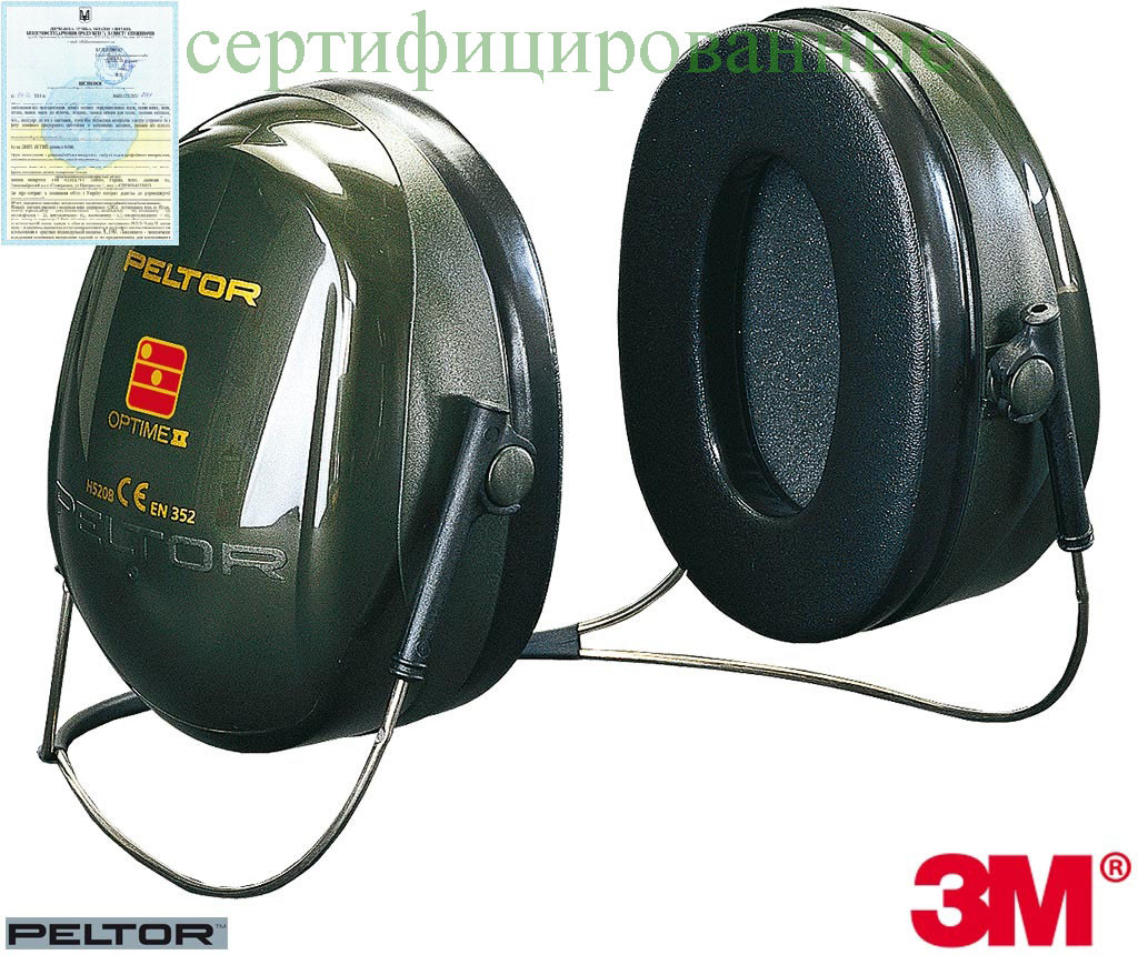 Защитные наушники на шейной дужке Peltor™ OPTIME™ II 3M-OPTIME2-K Z