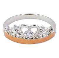 Кольцо корона с золотыми накладками 30503.