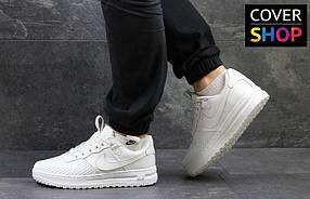 Кроссовки мужские Nike Lunar Force LF-1, материал - кожа+резина, белые 41