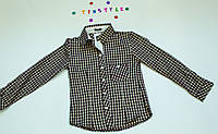 Модная  рубашка в клетку  на девочку рост 140-164 см, фото 1