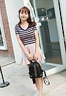 Рюкзак женский кожзам мини с фурнитурой Крестики, фото 4