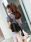 Рюкзак женский кожзам мини с фурнитурой Крестики, фото 3