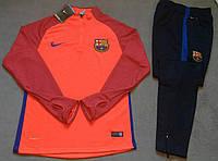 Костюм тренировочный Барселона оранжевый