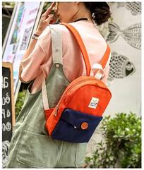 Рюкзак женский мини с пуговкой
