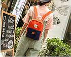 Рюкзак женский мини с пуговкой, фото 3