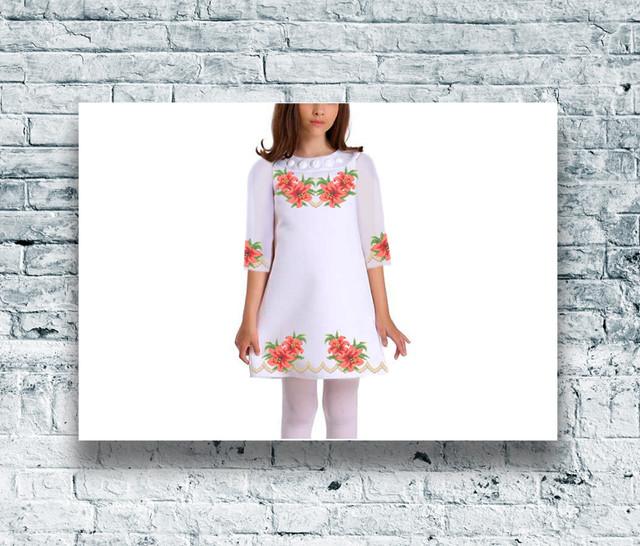 Заготовки дитячих плать — купити заготовку дитячого плаття бісером в Києві 6d26bfa037f91