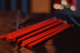 Свічка Червона воскова 1 см діаметр, фото 3