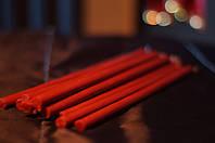 Свеча  Красная восковая 1 см диаметр