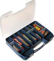 2546 Коробка двусторонняя 14- 46 ячеек для рыболовных снастей  Aquatech