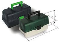 2703 Ящик для рыбалки 3 полки непрозрачная крышка Aquatech