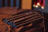 Черная свеча из натурального воска 1 см., фото 3
