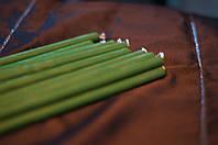 Восковая свеча зеленая 1 см.
