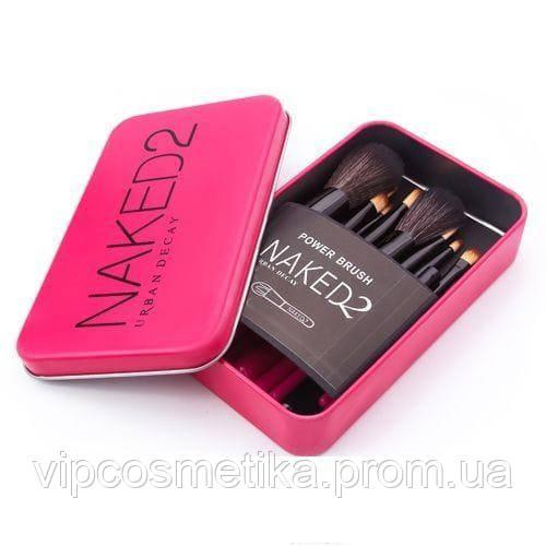 Набор кистей NAKED2 в контейнере 12 шт. розовый