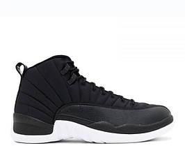 Air Jordan 12 Retro Black Nylon (топ реплика)