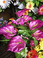 Каллы Искусственные цветы разные цвета в упаковке, фото 1