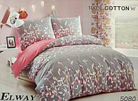Сатиновое постельное белье евро ELWAY 5080