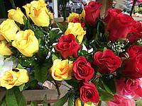 Бутоны роз Искусственные цветы разные цвета в упаковке