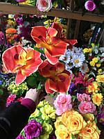 Букет из орхидей Искусственные цветы разные цвета в упаковке