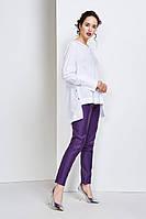 Ассиметричная белая женская блуза