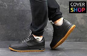 Кроссовки мужские Nike Lunar Force LF-1, материал - кожа+резина, черные 41