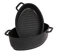 Гусятница с крышкой сковородкой с антипригарным покрытием