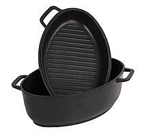 Гусятниця з кришкою сковорідкою з антипригарним покриттям