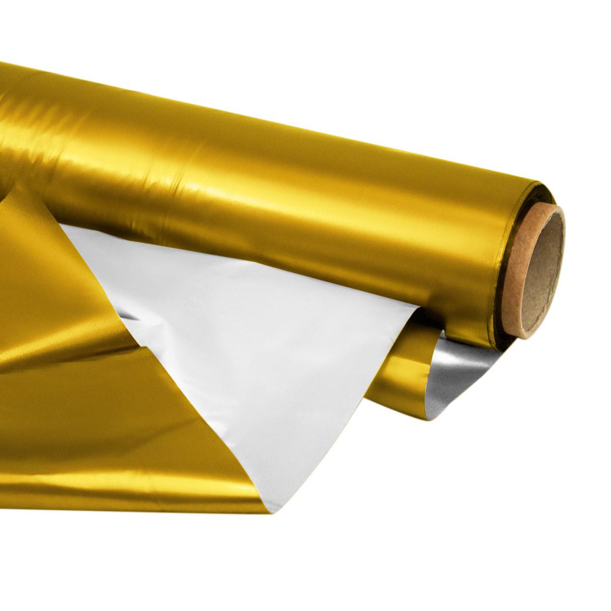Матовая пленка золотистая 70 см х 10 метров