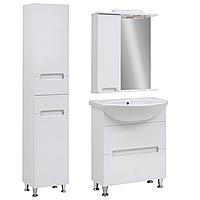 Комплект мебели для ванной комнаты Марко 65 с зеркальным шкафом Юввис