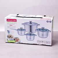 Набор посуды 8 предметов с полыми ручками из нержавеющей стали Kamille 4504S
