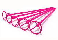 Палочки держатели для шариков фольгированных розовые 40 см. (50 шт.)