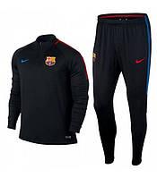 Костюм тренировочный Барселона черный