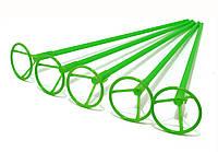 Палочки держатели для шариков фольгированных зелёные 40 см. (50 шт.)