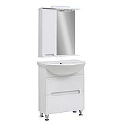 Мини-комплект мебели для ванной комнаты Марко 65 с зеркальным шкафом Юввис