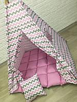 Вигвам детская игровая палатка «Малиновая радость»