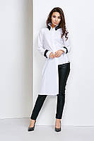 Асиметричная белая блуза
