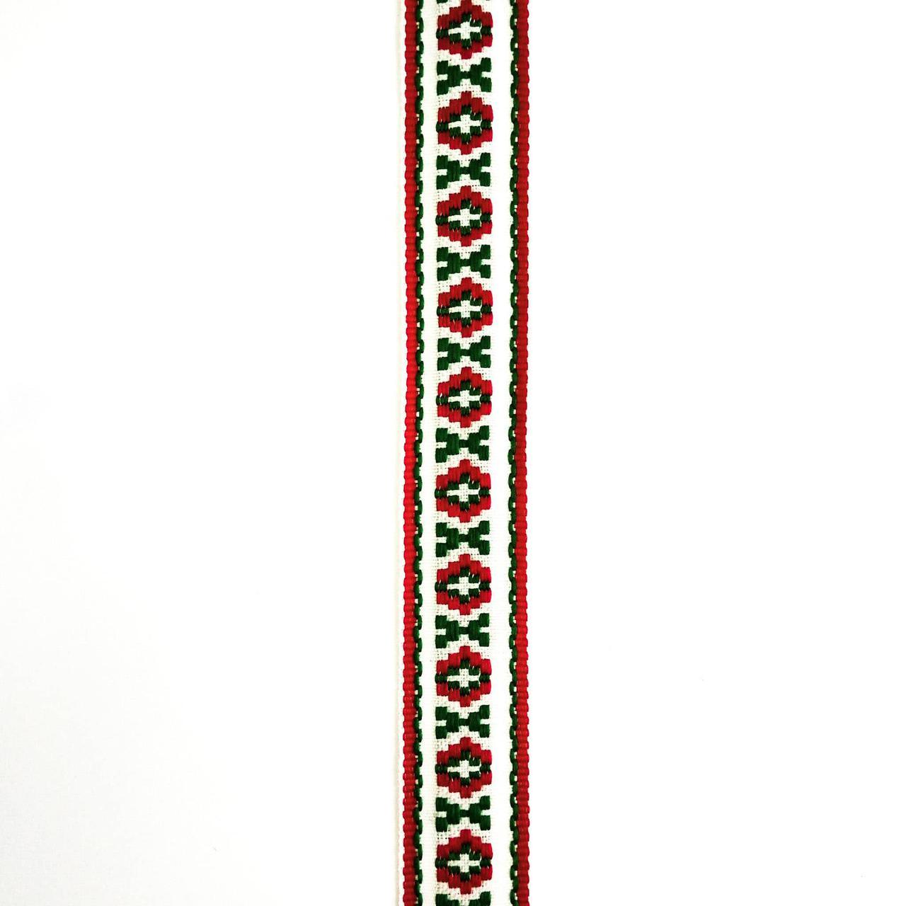 Стрічка обробна з українським орнаментом 23 мм (25м/рулон)