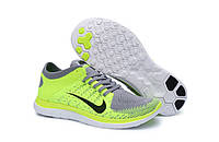 Nike Free 4.0 Flyknit Lemon Gray Shoes, фото 1