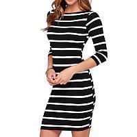 Платье полосатое, платье карандаш, облегающее платье, плаття, фото 1