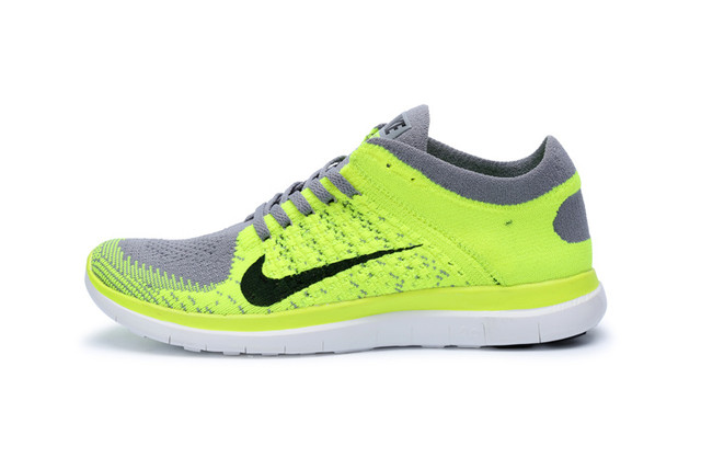 Nike Free 4.0 Flyknit Lemon Gray Shoes