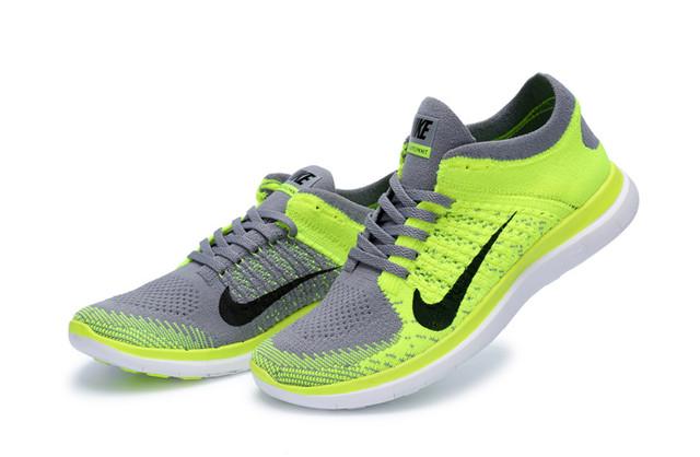 Nike Free 4.0 Flyknit Lemon Gray Shoes