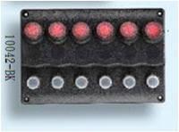 10042-BK панель на 6 переключателя Тайвань