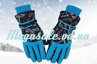 Перчатки горнолыжные женские Burn (перчатки лыжные): голубой