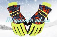 Перчатки горнолыжные женские Burn (перчатки лыжные): желтый
