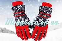 Перчатки горнолыжные женские Burn (перчатки лыжные): красный