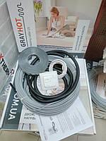 3.8м2 Теплый пол GrayHot с регулятором и датчиком под плитку без стяжки, фото 1