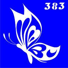 Трафарет для временного тату №383