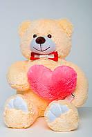 М'який ведмедик 110 см з сердечком