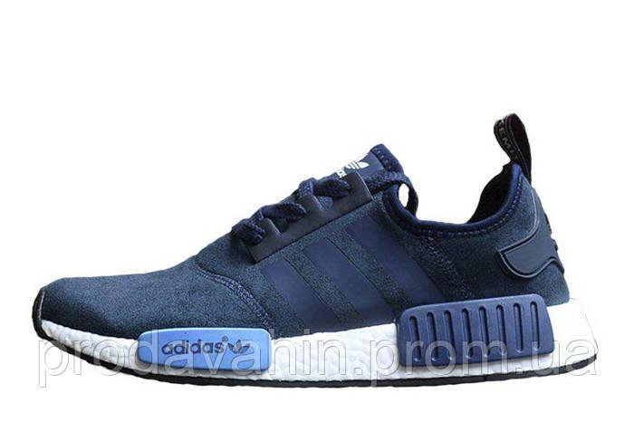 Брендовые Кроссовки для мужчин Adidas NMD Runner Suede Blue