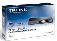 Комутатор мережевий TP-Link TL-SF1024D, некерований, в стійку, 24, Fast Ethernet, 4.8 Гбит/с, 8 Кб