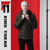 11 Kiro Tokao   Весенне-осенняя мужская куртка 4724 т-зеленый